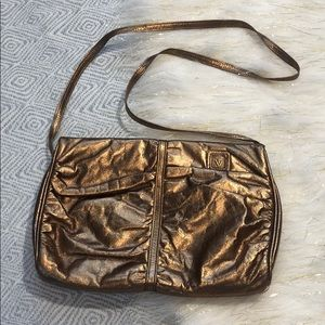 Vintage [ Anne Klein ] for Calderon Gold Crossbody